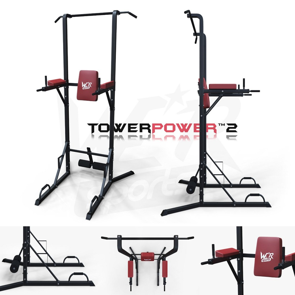 We R Sports® Chin Up Pull Up Sit Ups Power Tower